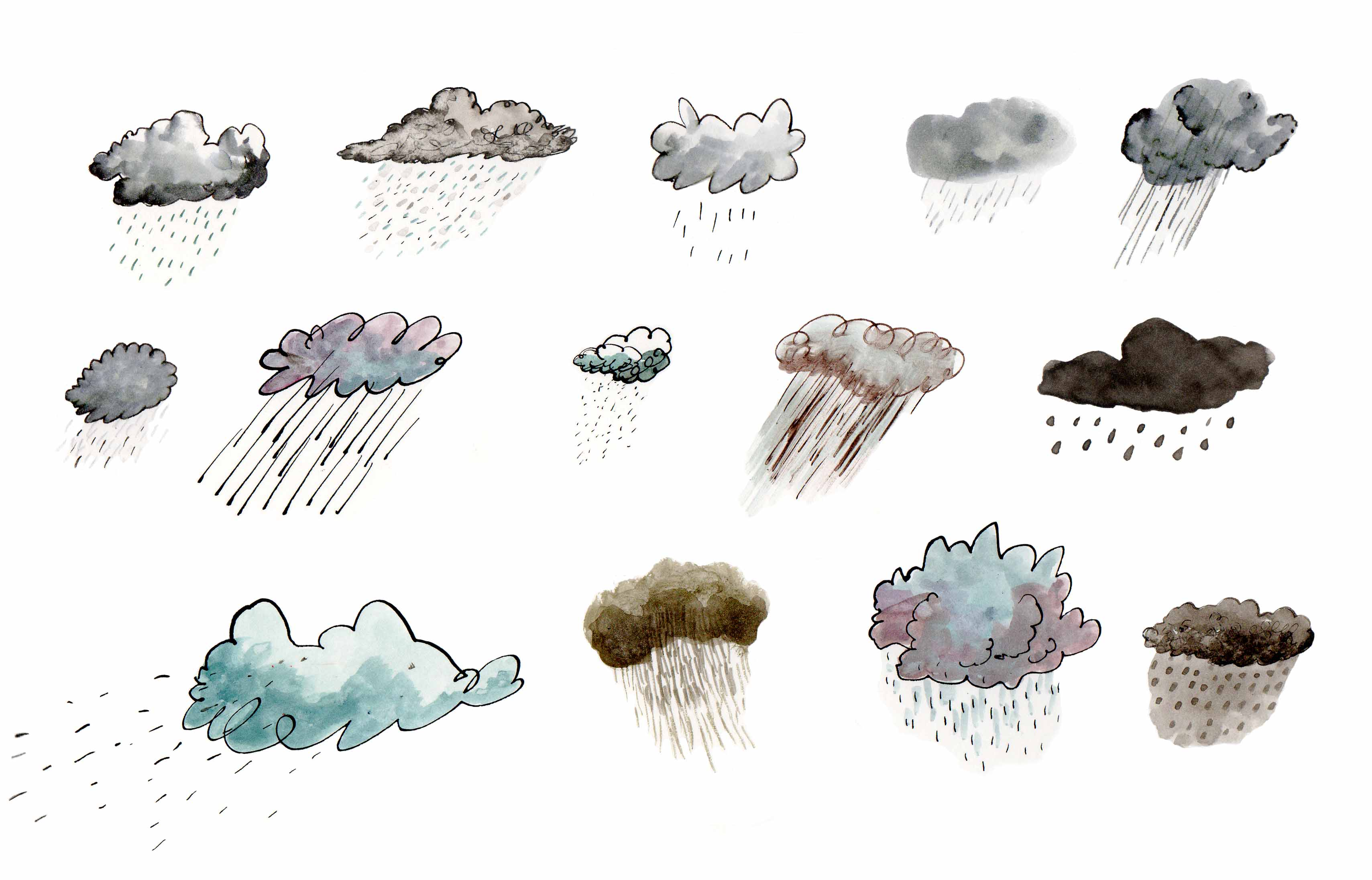 14 types of rain in Cardiff today: deluge, downpour, torrent ...