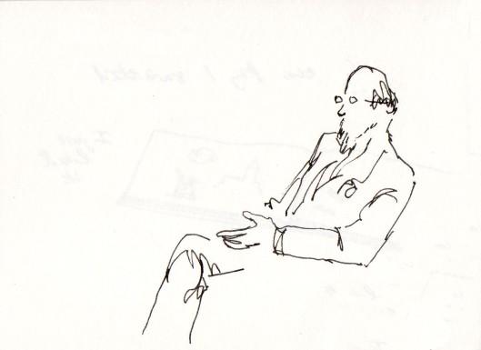 John Vernon Lord Falmouth 2011 sketch CG