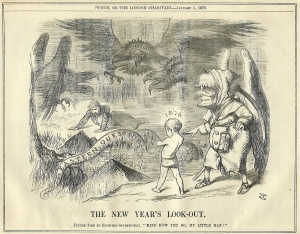 New Year Look Out 1876 Punch Tenniel
