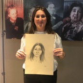 Ffion Hopkins and portrait by Josh Donkor