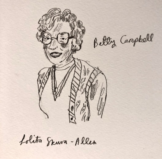 Portrait of Betty Campbell by Lolita Skura (from a photo)